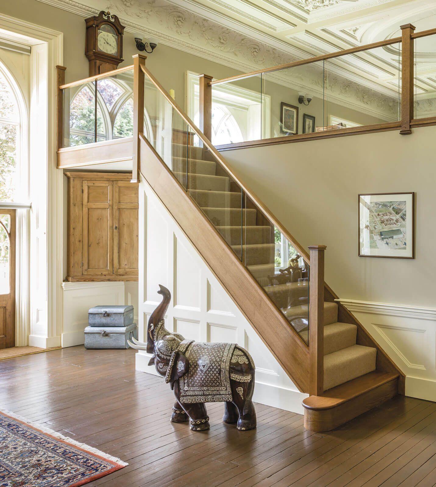 Best Dark Oak In Line Glass Staircase In 2020 Staircase 640 x 480
