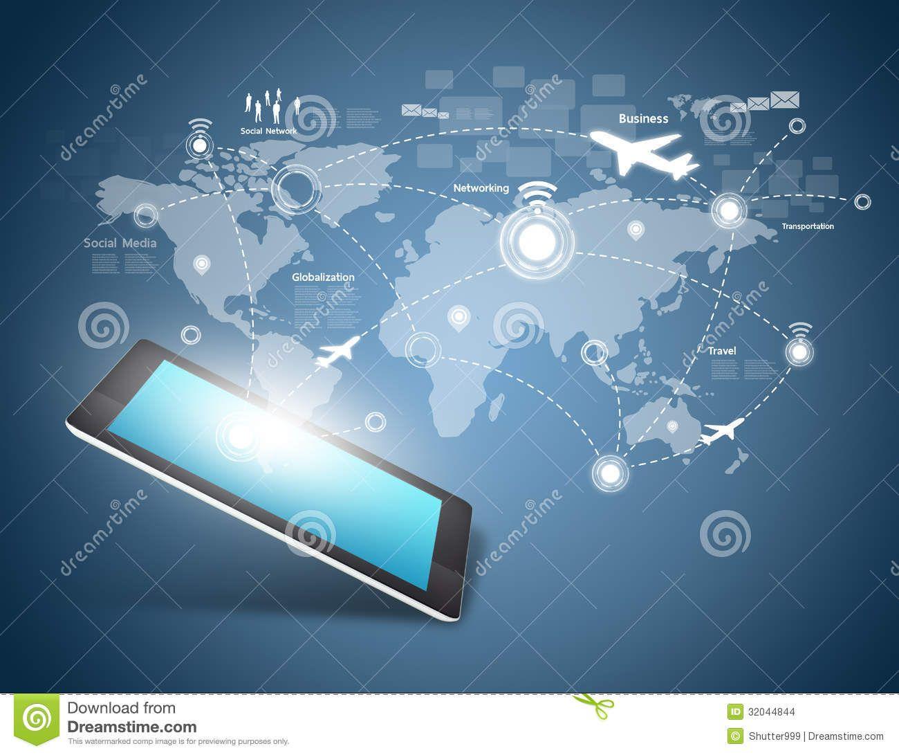 Modern Communication Technology Stock Images Image 32044844