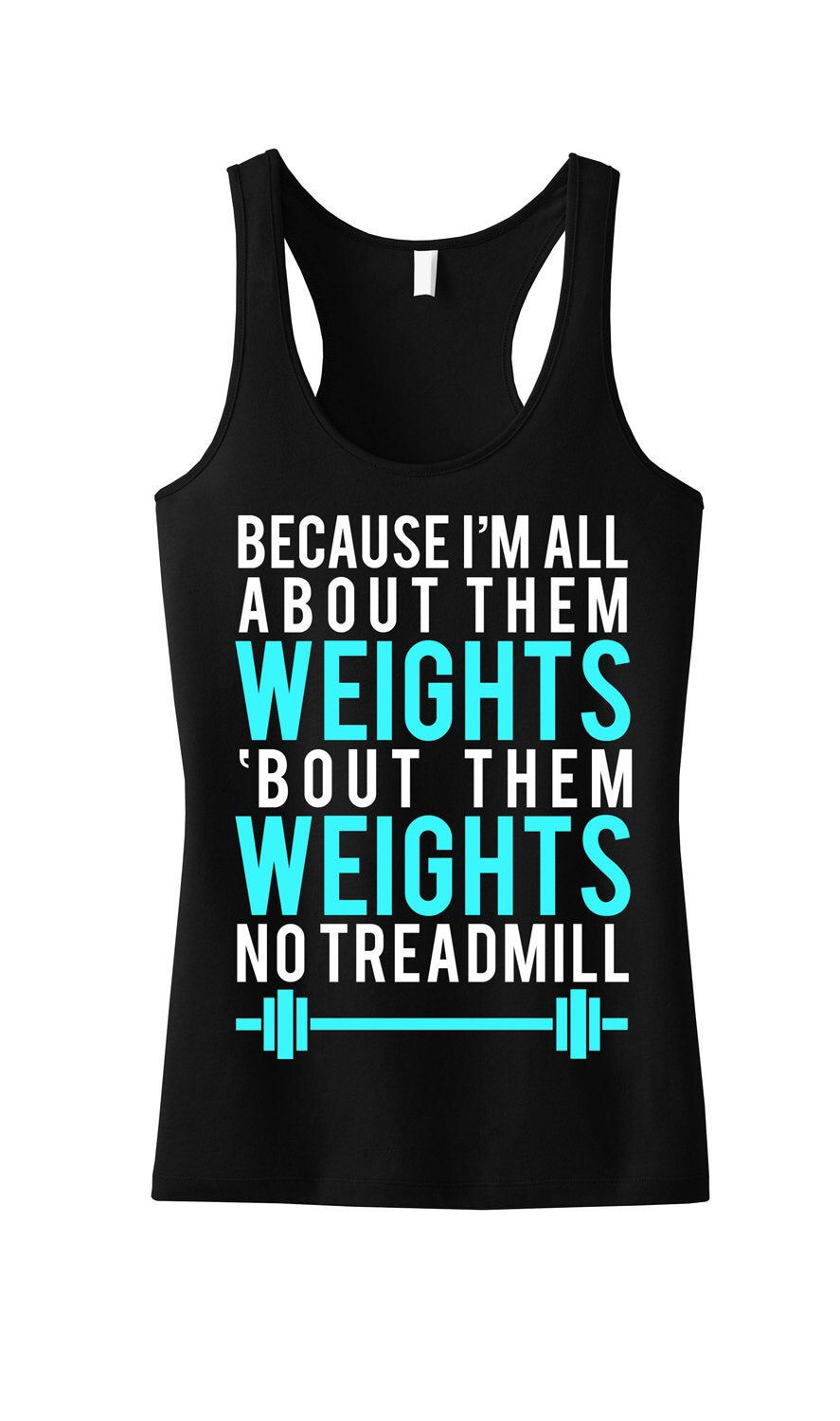 All About Them WEIGHTS Workout Tank Workout Clothing Workout   Etsy