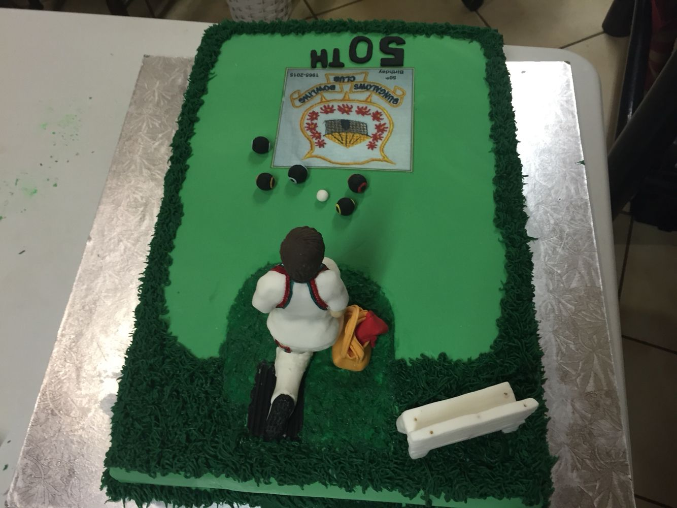 50th lawn bowls cake