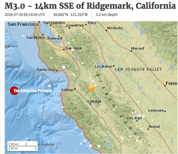 Earthquake Swarm Continues In South Bay Near Hollister Ca Nc