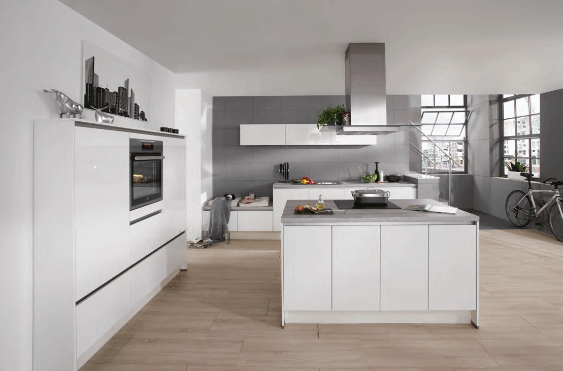 Grifflose Nobilia Küche Mit Kochinsellösung