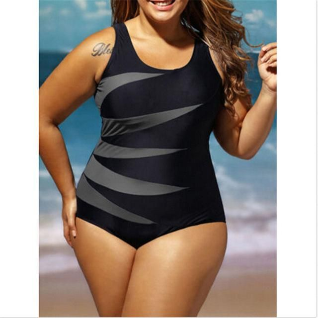 c089b7e26e79d ITFABS 2017 stripe New Sexy Bikinis Women Swimsuit High Waisted Bathing  Suits Swim Push Up Bikini Set Plus Size Swimwear 4XL