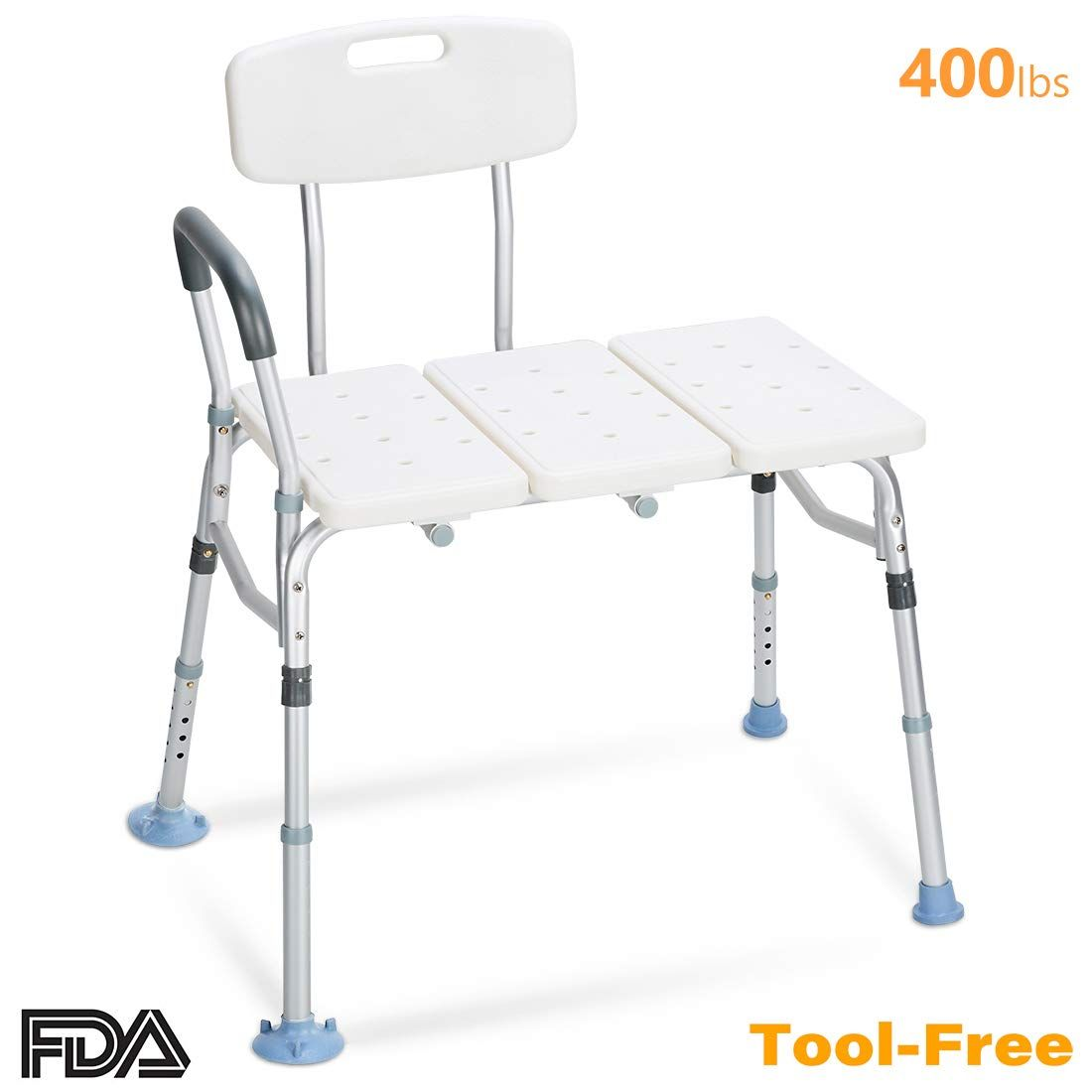 Oasisspace Tub Transfer Bench 400 Lb Heavy Duty Bath And Shower Transfer Bench Adjustable Handicap Shower Handicap Shower Chair Shower Chair Transfer Bench