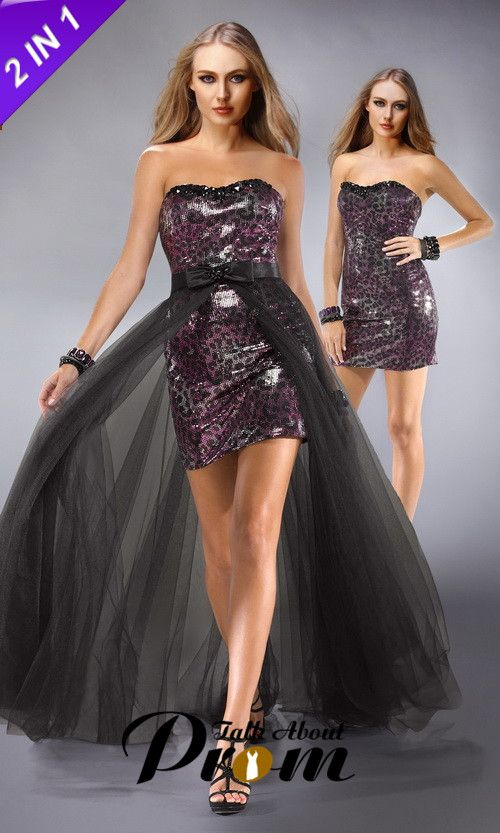 Sequin Strapless Gorgeous Convertible Prom Dress TAP0192 [TAP0192 ...