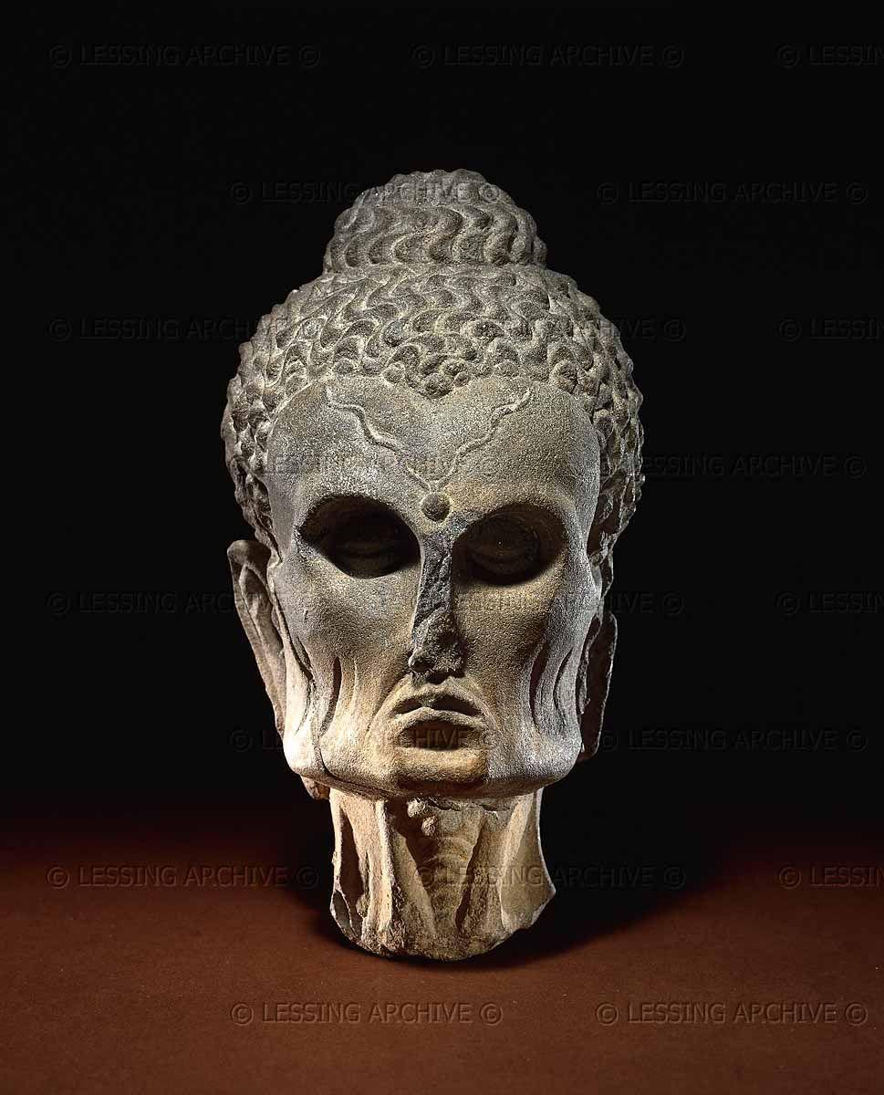 Lessingimages Com Schist Head Of The Fasting Buddha Pakistan British Museum Bodhisattva Buddha