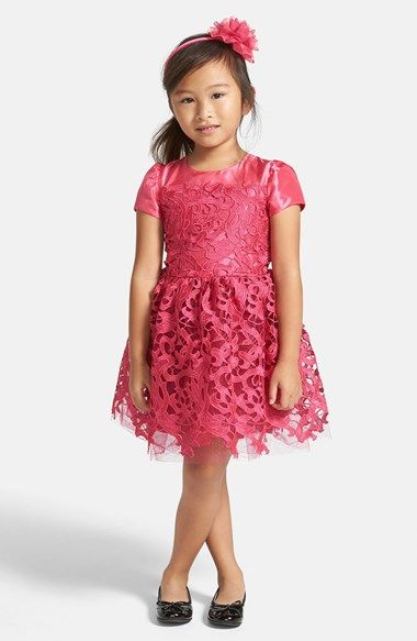 Free shipping and returns on Halabaloo  French Lace  Dress (Toddler Girls cc576681c299