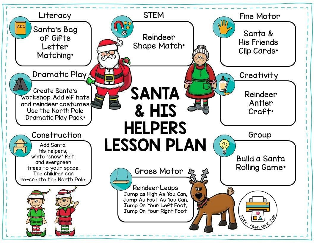 Download This Free Santa And His Helpers Lesson Plan From