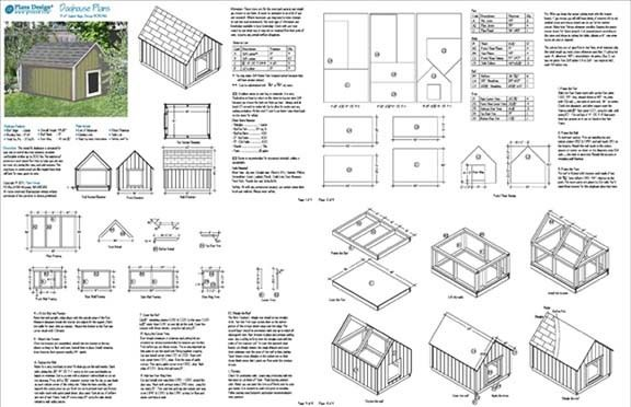 details about large dog house plans gable roof style doghouse