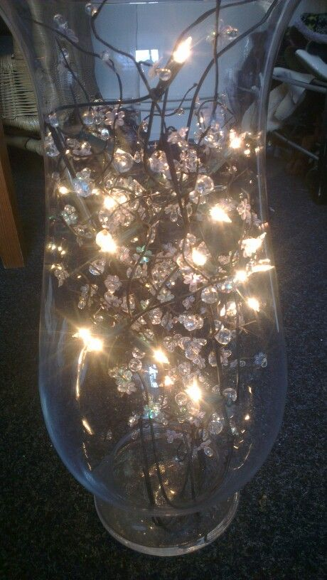 Diamonts, Christmaslights and a vase... That's it!