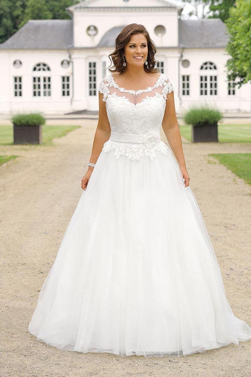 42 Plus Size Wedding Dresses To Shine Weddinginclude Plus Wedding Dresses Plus Size Wedding Gowns Wedding Dresses
