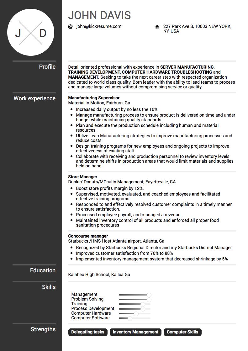 Resume Examples 2018 Resume examples, Job resume
