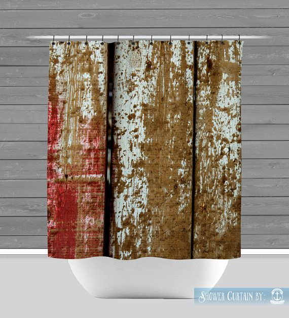 Barnwood Shower Curtain Rustic Americana By BrandiFitzgerald