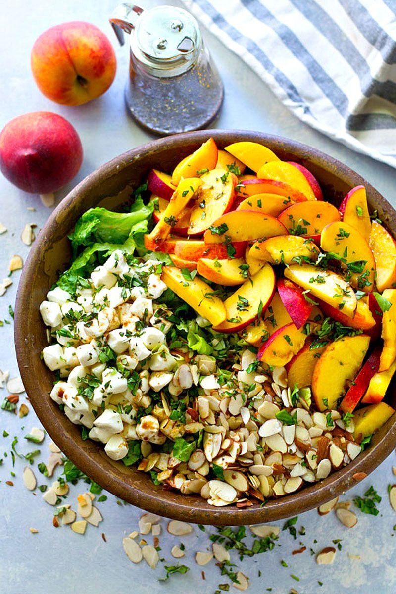 Summer Peach Balsamic Caprese Salad Whole and Heavenly Oven ...