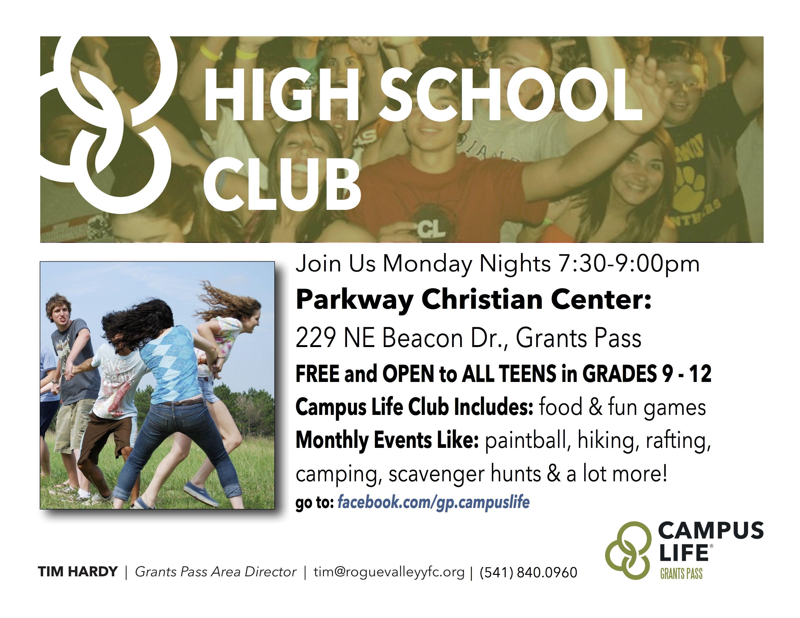 Grants Pass High School Club Campuslife Holidays Events