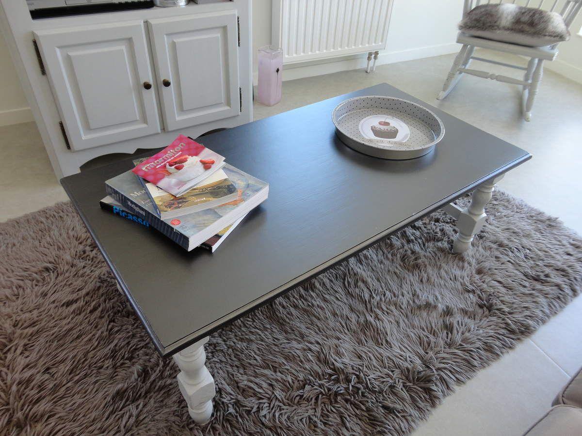 Table Basse Et Meuble T L Relook S Peinture Design Touch  # Table Basse Et Table De Television