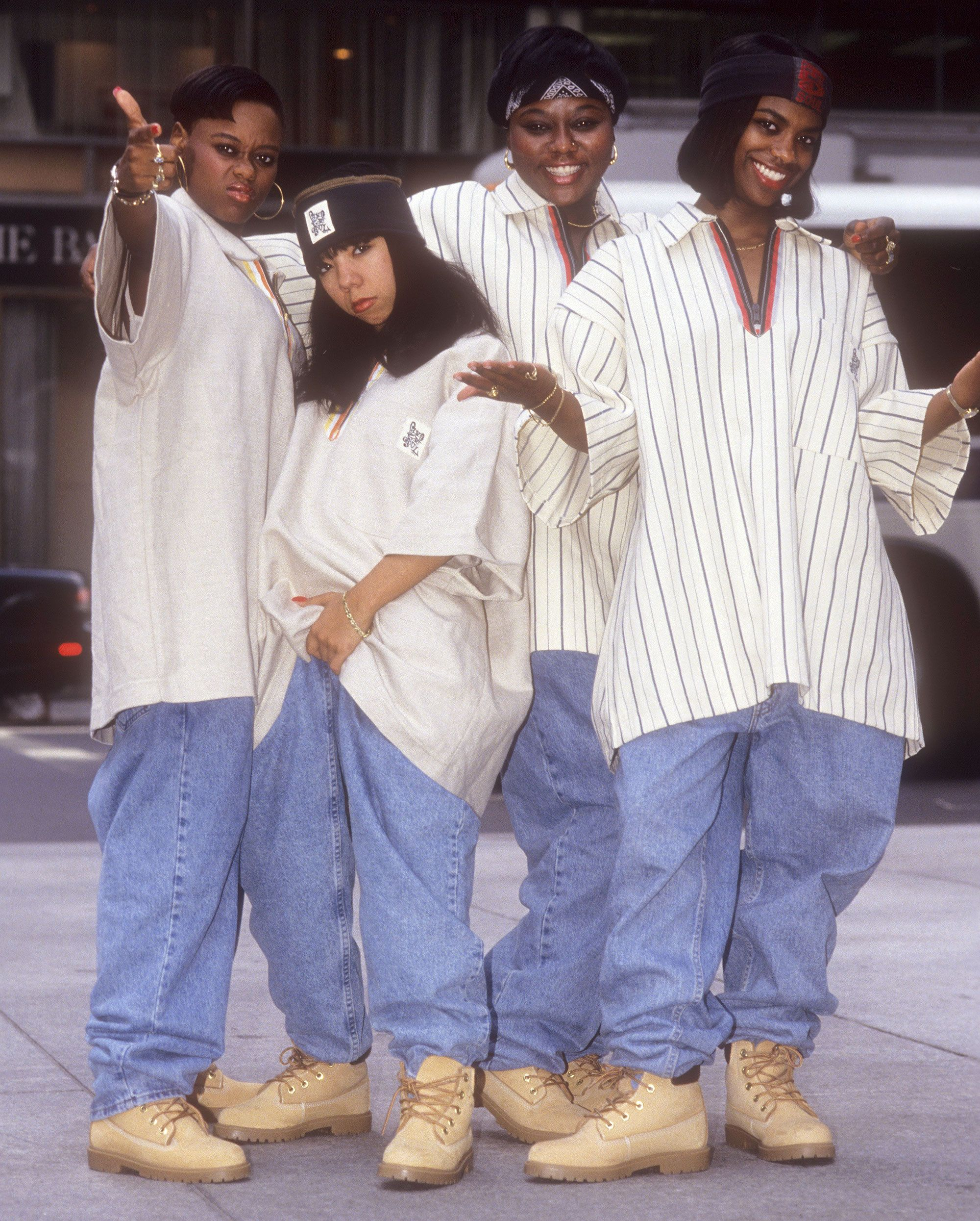 Still Kickin It Xscape Reuniting 25 Years After Debut Album For New Bravo Series 90s Hip Hop Fashion Hip Hop Outfits 90s Fashion