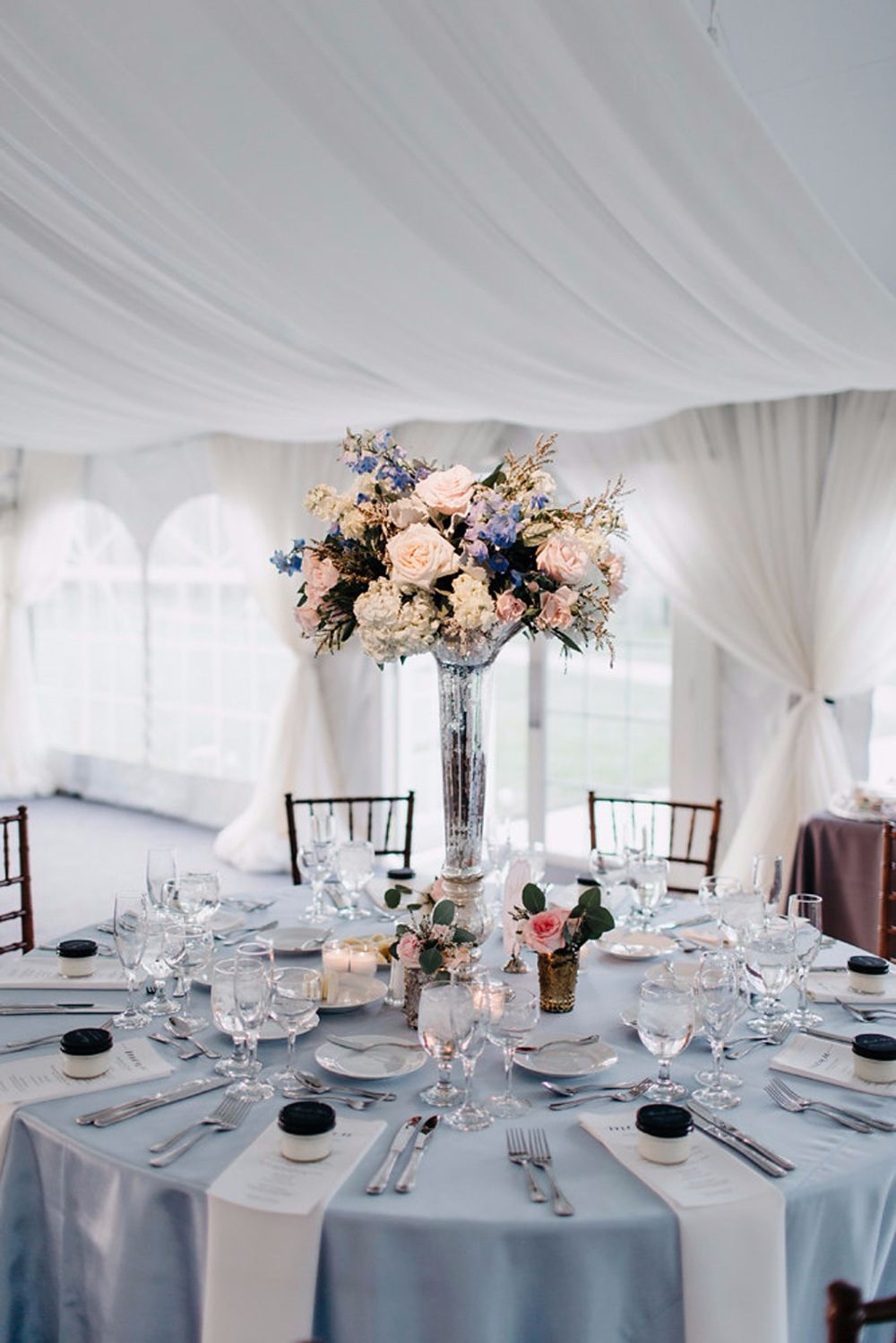 tall romantic centerpieces photo by Codrean
