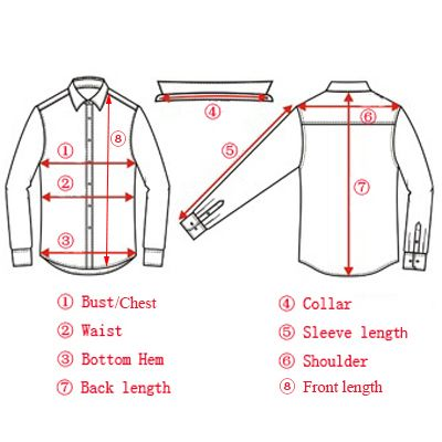 How To Measure A Shirt Or Blouse Long Sleeve Shirt Pattern Long Sleeve Shirt Men Casual Long Sleeve Shirts