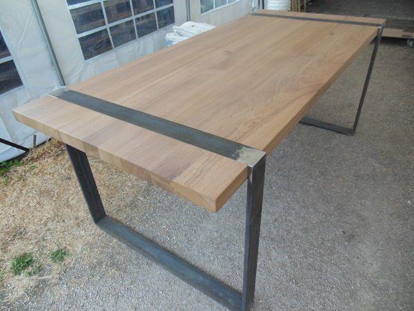 Table monastere en ch ne pieds en fer d 39 exposition meubles meubles pinterest table - Table monastere d occasion ...