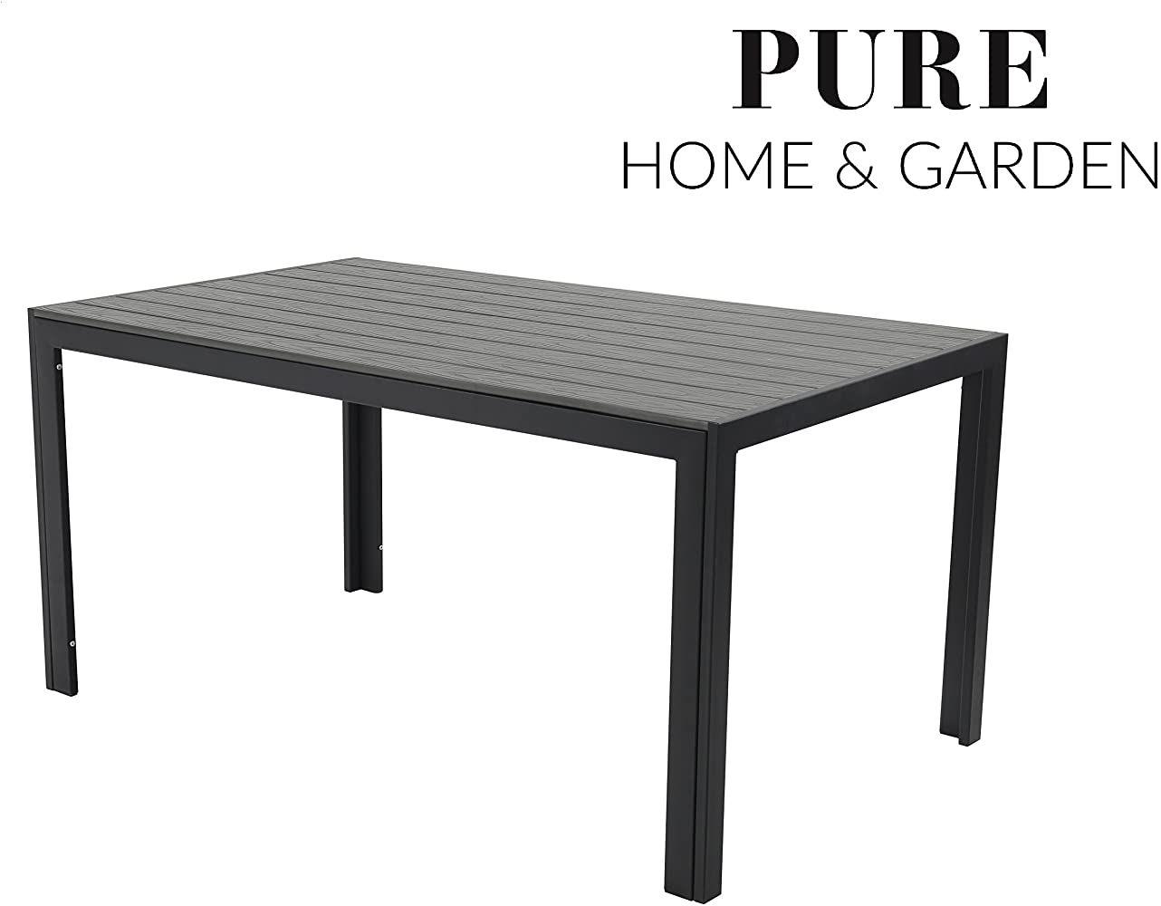 Pure Home Garden Aluminium Gartentisch Fire Xxl Mit Polywood