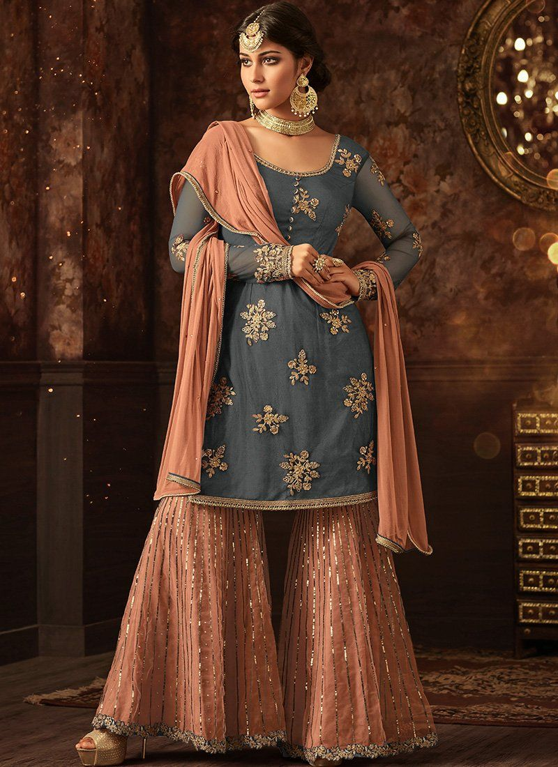 Candid Gharara Suit High Safety Clothing, Shoes & Accessories Women's Clothing