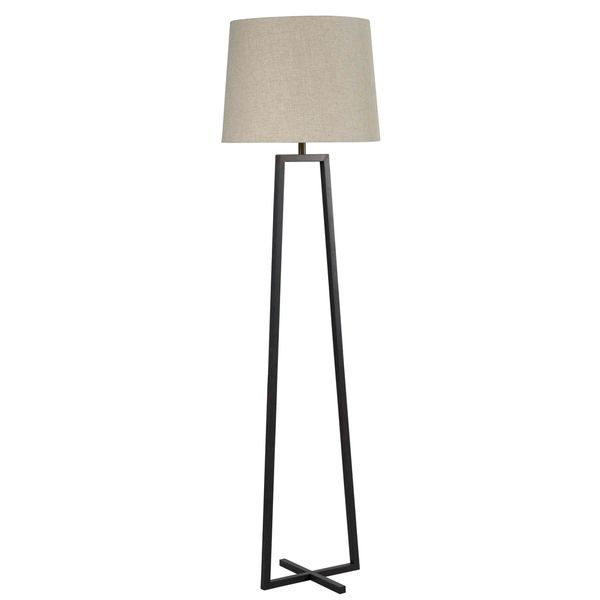 Ahearn oil rubbed bronze floor lamp overstock shopping great deals on design craft floor