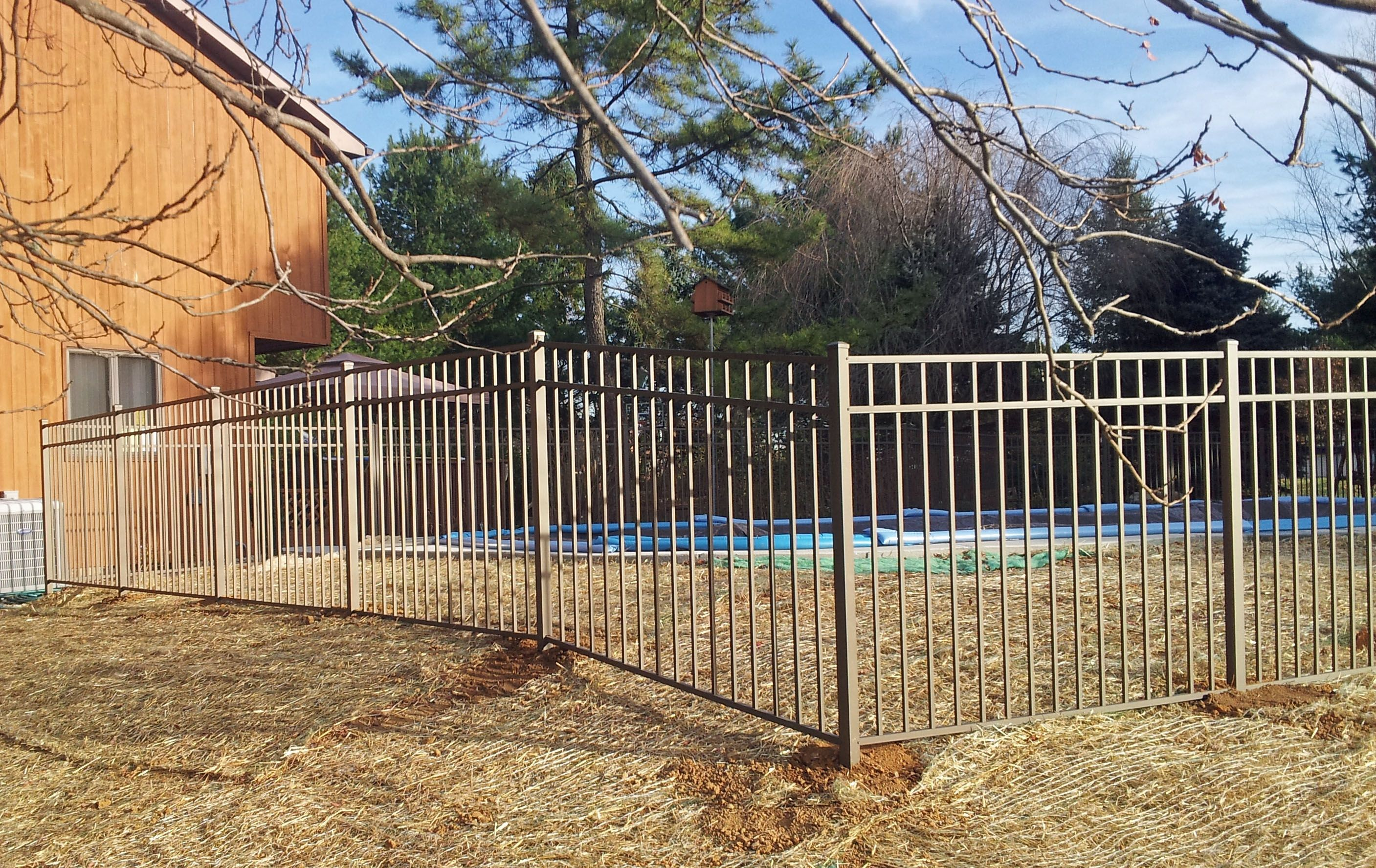 Bronze Aluminum Boca Code Swimming Pool Fence Pool Fence