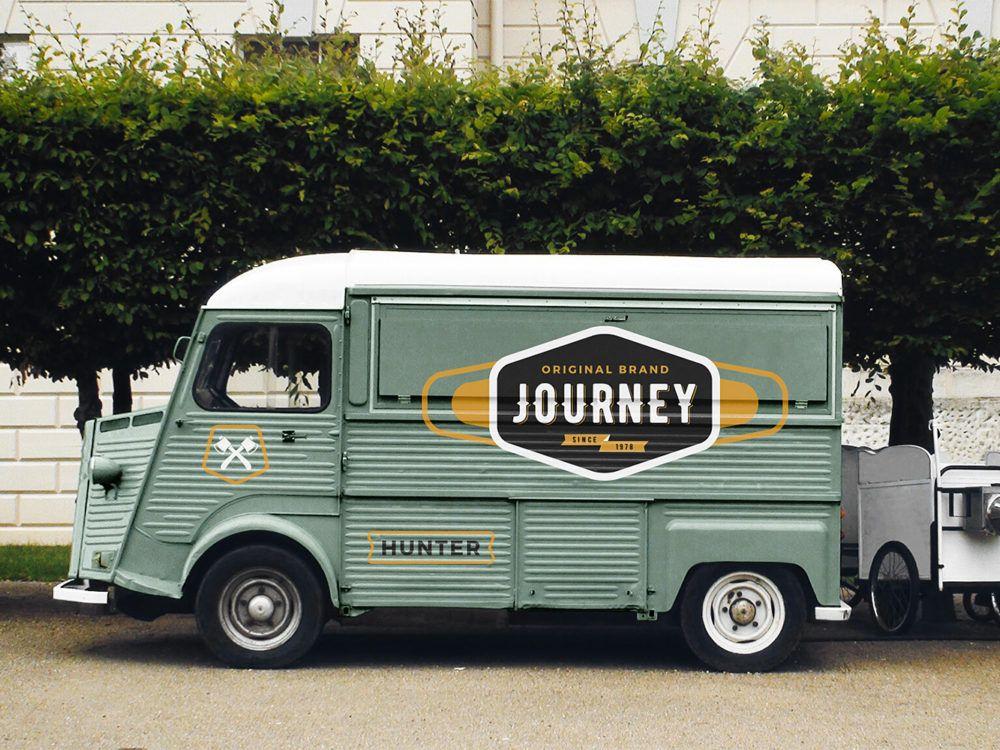Food truck mockup free mockup graphic design freebies