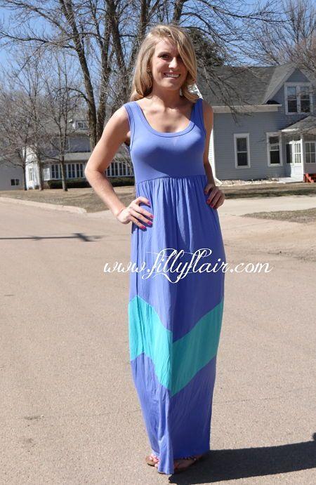 Lavender and light Jade Chevron Maxi Dress. $40 | My Style ...
