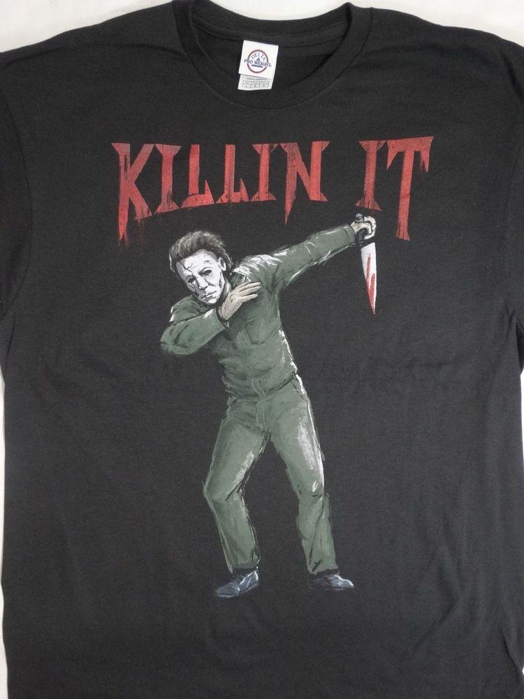 cc7e6952 Michael Myers Halloween Dab Dabbing Killin It Horror Movie T-Shirt # Halloween #TShirt
