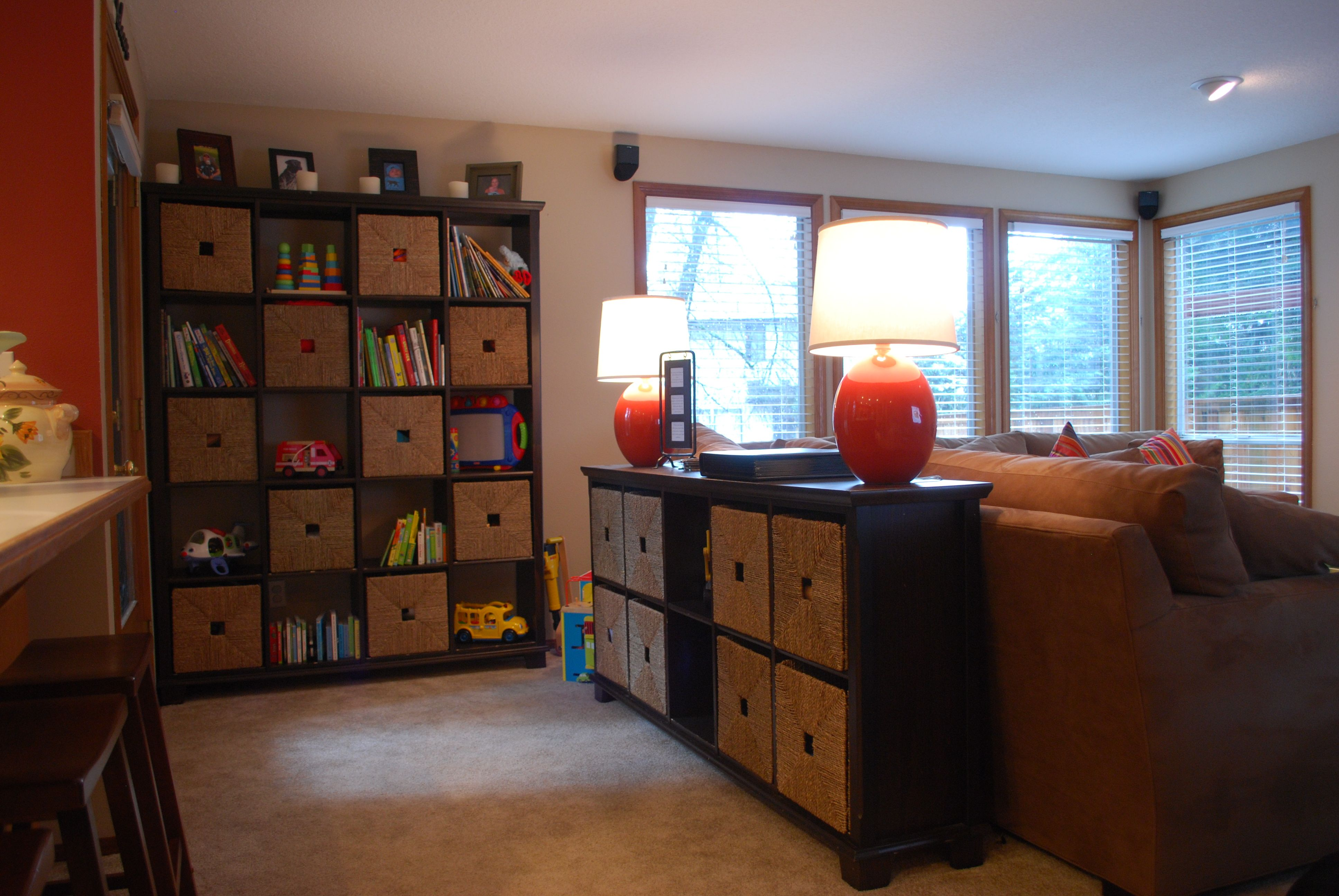 Storage for family room grown up looking storage solutions for kid friendly spaces home is