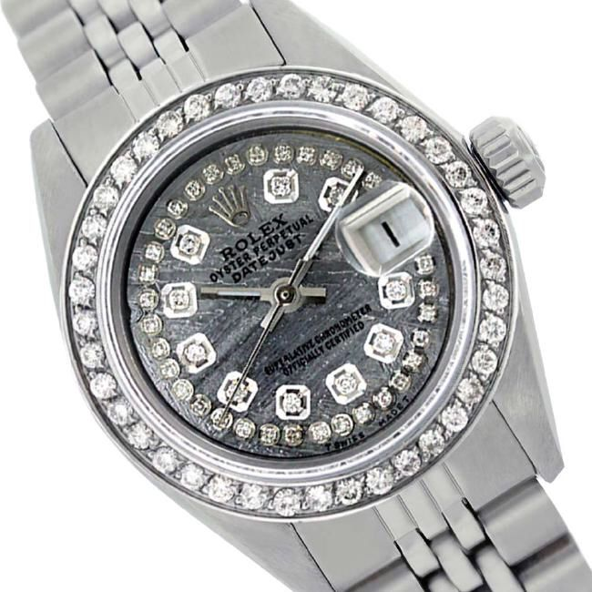 I just discovered this Rolex Ladies Stainless Steel, Diamond Dial & Diamond on LiveAuctioneers and wanted to share it with you: www.liveauctioneers.com/item/58926604