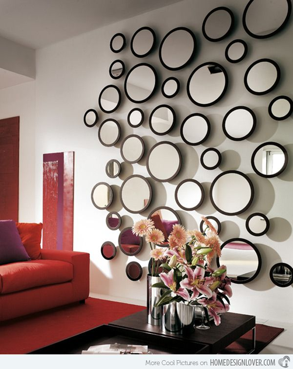 15 Fascinating And Exceptional Modern Mirror Designs Home Design Lover Wall Decor Design Cheap Wall Decor Mirror Wall Living Room