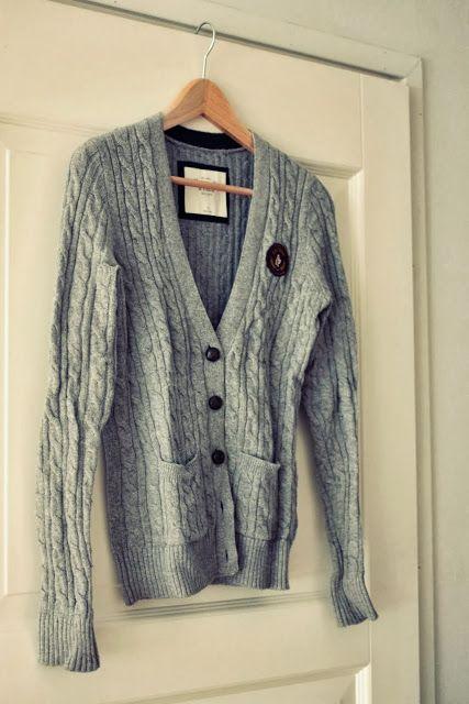 Chunky grey cardigan  http://skiglari-norppa.blogspot.com