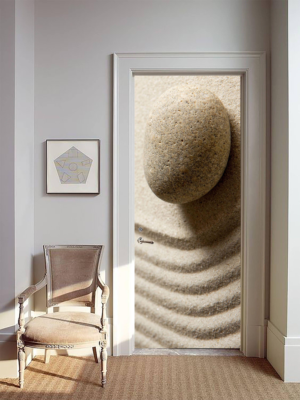 Removable Wallpaper Mural Peel & Stick Door Sticker Zen Beauty by