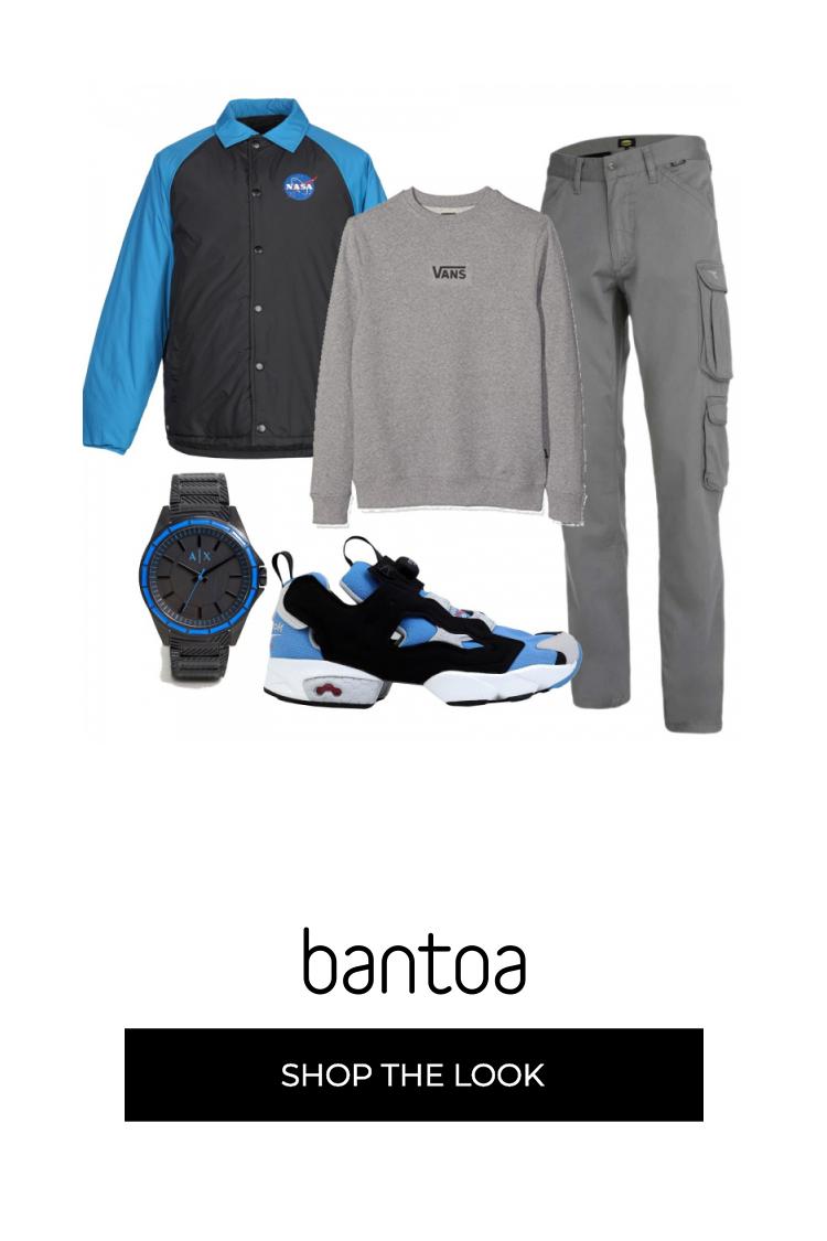 Stile utility per lui con pantalone cargo firmato Diadora e