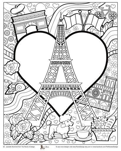 Paris Coloring pages i watch | Coloring pages to print - Cities ...