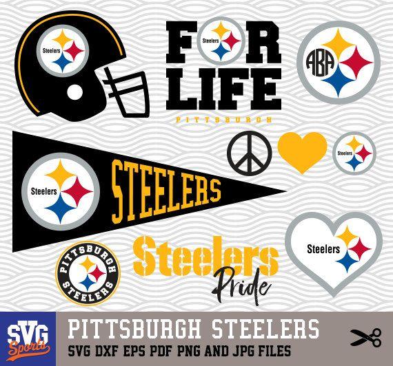 Pittsburgh Steelers Svg Logos Monogram Silhouette Cricut Cameo Screen Printing Sp 08 Svg Files For Cricut Cricut Cricut Projects Vinyl