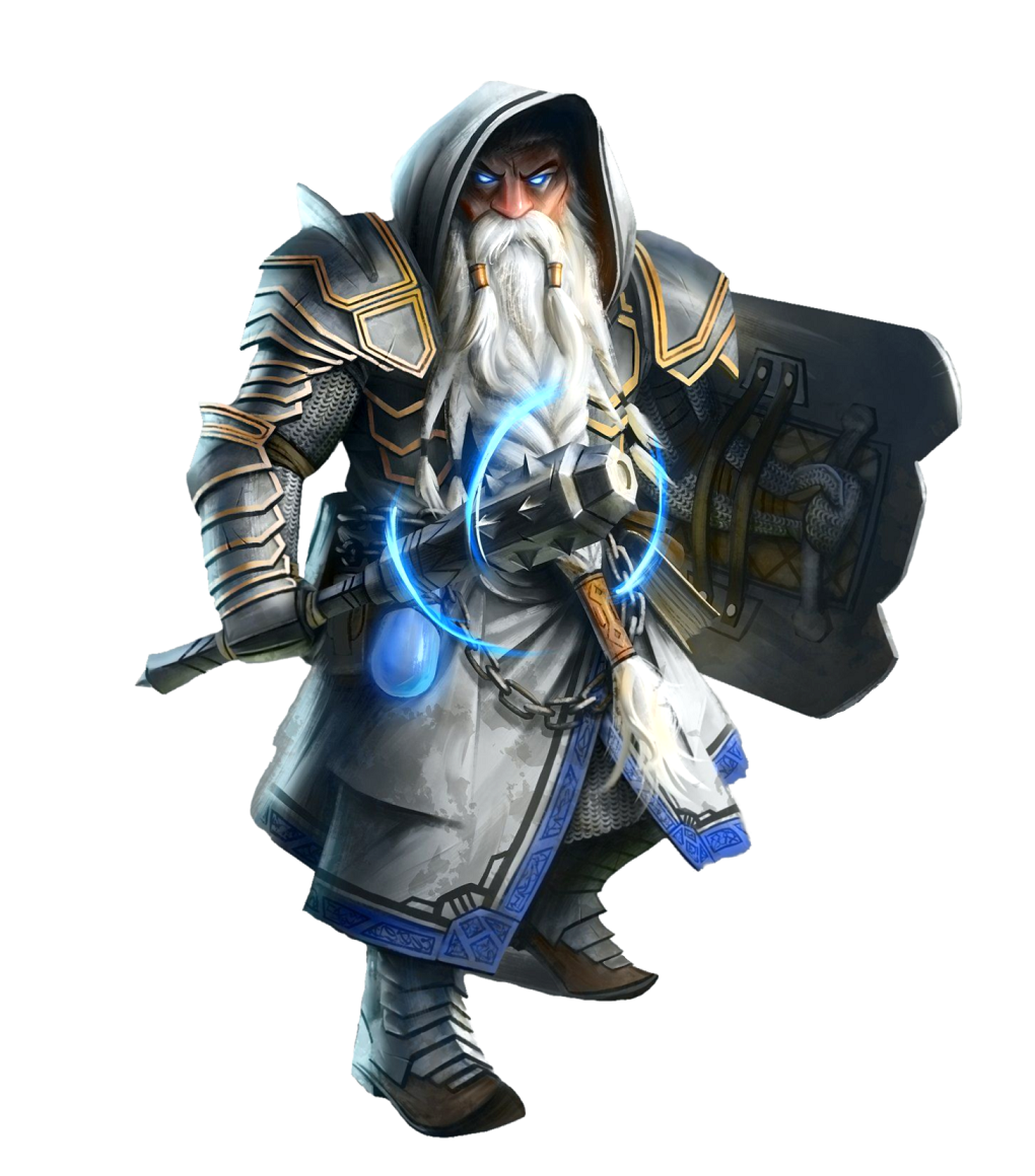 Male Dwarf Cleric or Paladin - Pathfinder PFRPG DND D&D 3 5 5E 5th