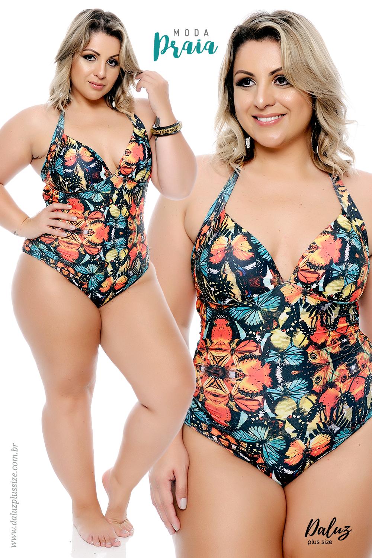 8669e1b37 Moda Praia Plus Size - Coleção Alto Verão 2018 - www.daluzplussize.com.br