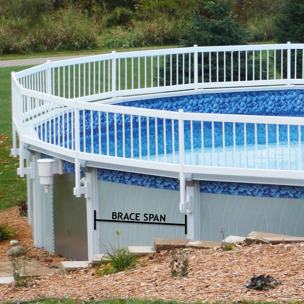 premium guard above ground pool safety fence 02 span kit c