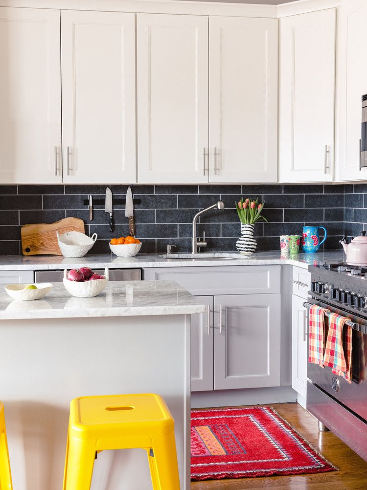 Buried Diamond Creator Colorful Brooklyn Home Tour Easy Kitchen Upgrade Kitchen Design Kitchen On A Budget