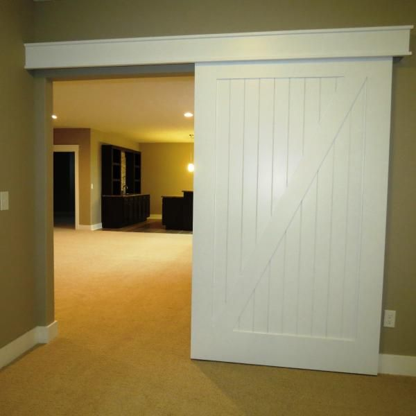 white barn door idea