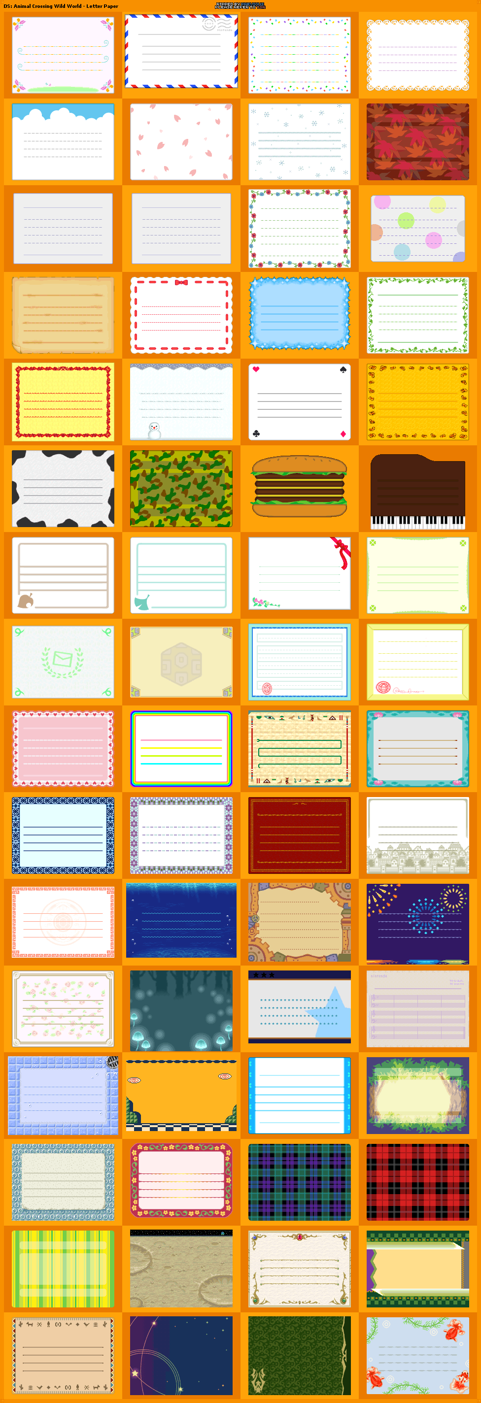 Ds Animal Crossing Wild World Letter Paper Animal Crossing Animal Crossing Guide Letter Paper