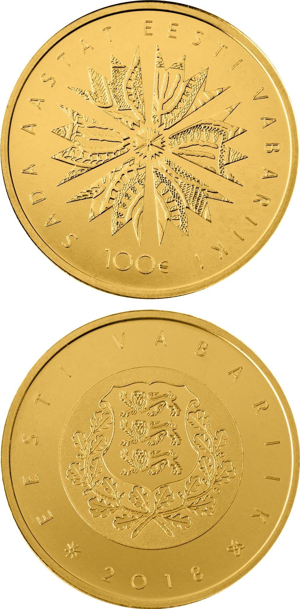 Estonia Silver 100 krooni 1992 Barn Swallow Proof like !!!