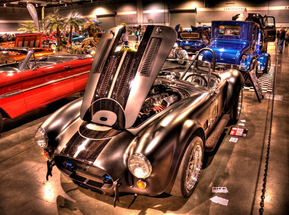 Cobra With Satin Black Paint At Portland Expo Center For Ryan - Portland expo car show