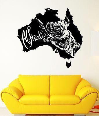 Wall Stickers Koala Animal Australia Tribal Art Mural Vinyl Decal ...