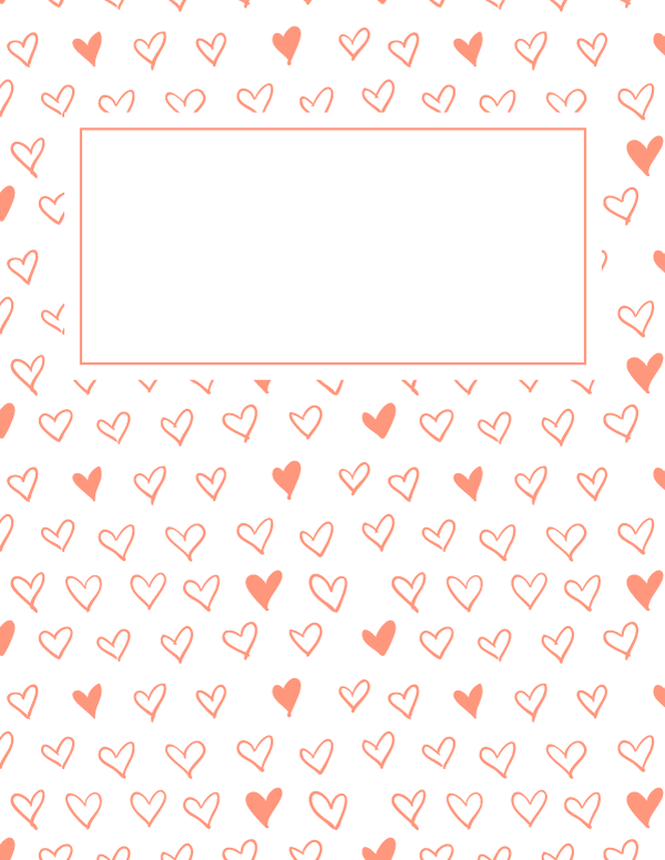 Free Printable Pink Heart Binder Cover Template Download The Cover In Jpg Or Pdf Format At Http Bind Binder Cover Templates Cute Binder Covers Binder Covers