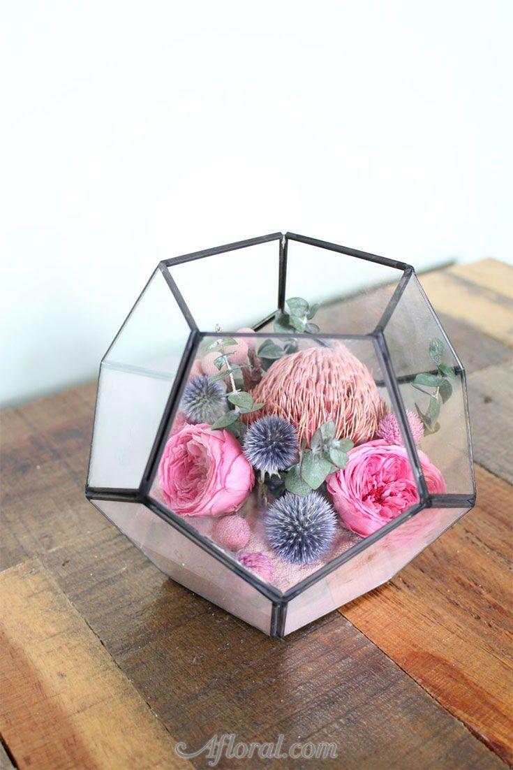 Diy dried flowers u greenery terrariums